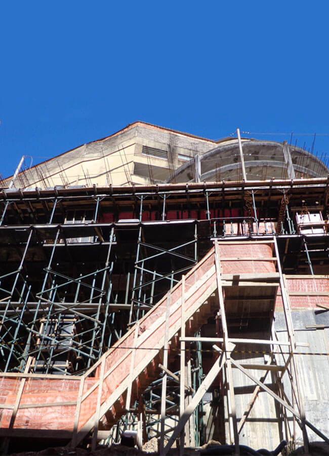 Baggio realiza fiscalização de obra de prédio tombado em Porto Alegre