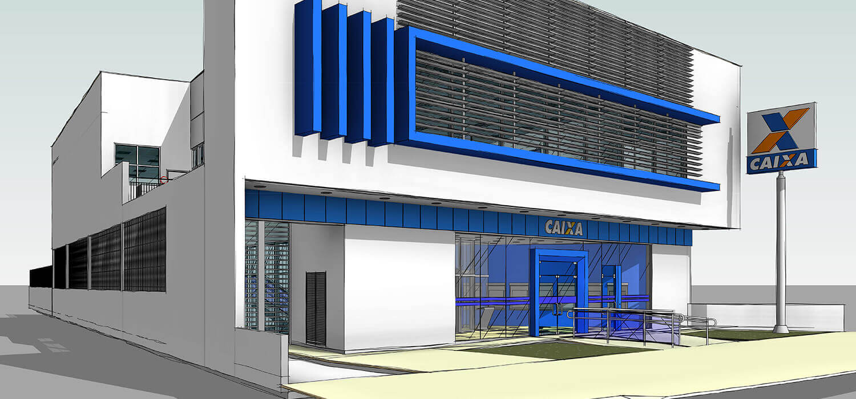 projeto de arquitetura bancária para CAIXA realizado pela Baggio